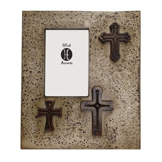 HiEnd Accents Distressed Tree Crosses Frame (Ea) 4X6