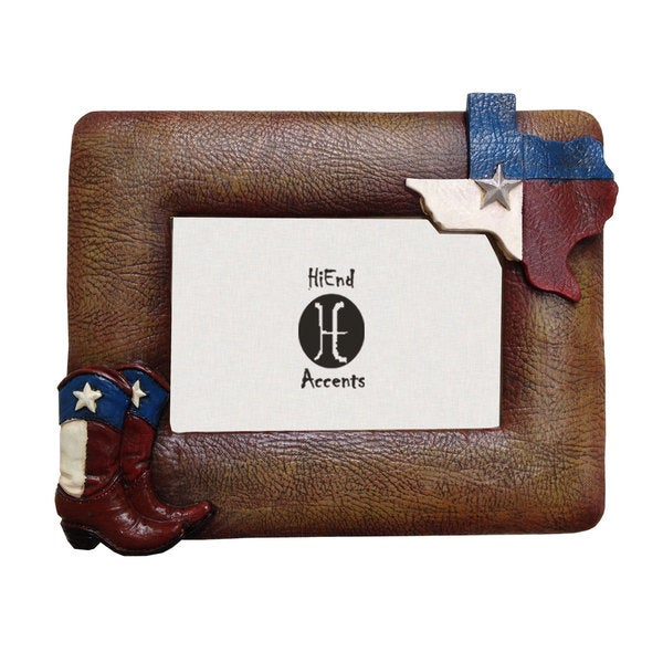 Hiend Accents Texas Flag Amp Boots Frame Ea 4x6 Free