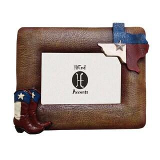 HiEnd Accents Texas Flag & Boots Frame (Ea) 4X6