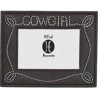 HiEnd Accents Cowgirl Studded Frame 6 X 4