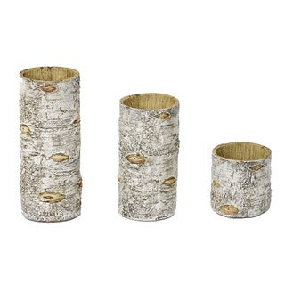 HiEnd Accents Birch Candleholders Set Of 3