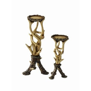 HiEnd Accents Antler Candle Holders (Set Of 2)