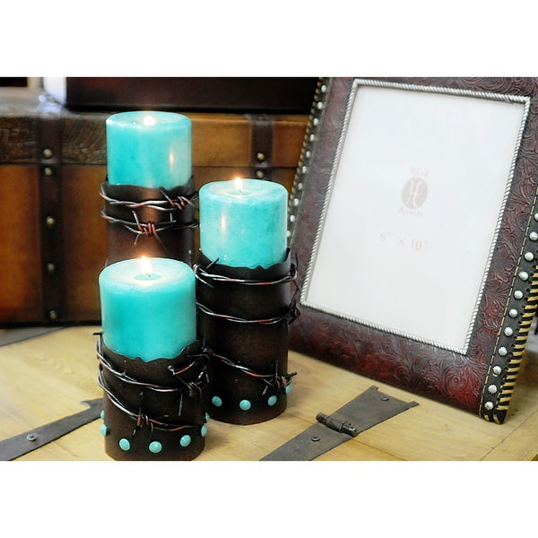 HiEnd Accents Barbwire Candleholders Set Of 3