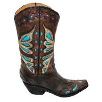 HiEnd Accents Turquoise Cowboy Boot Vase