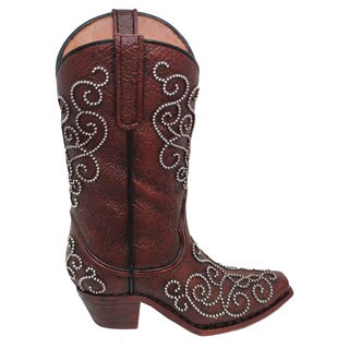 HiEnd Accents Studded Boot Vase