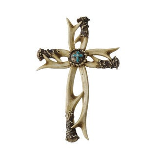 HiEnd Accents Turquoise Antler Cross
