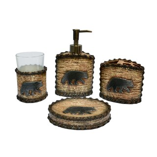 HiEnd Accents 4-piece Rustic Bear Bath Set