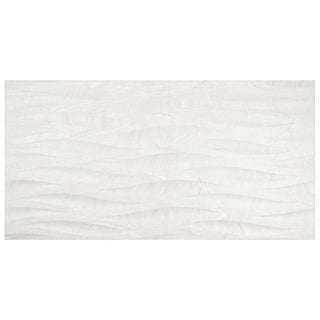 SomerTile 12.5x24.625-inch Patan Blanco Deco Porcelain Wall Tile (5/Case, 11.01 sqft.)
