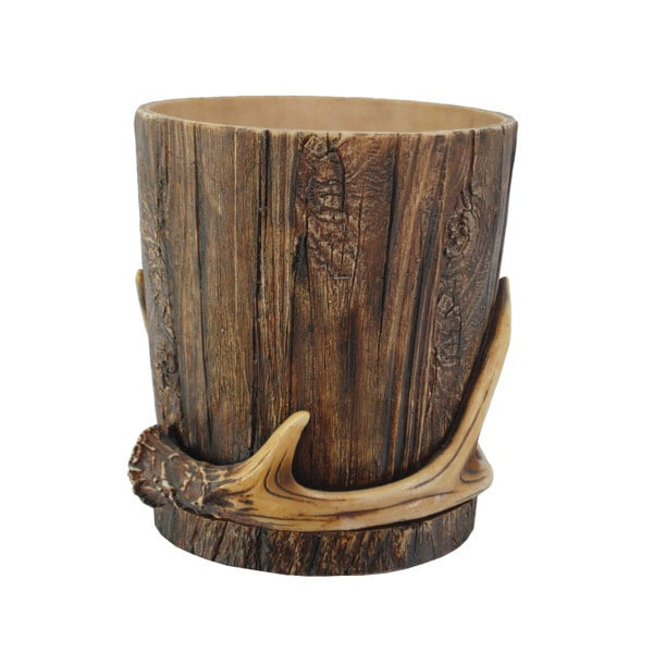 Hiend Accents Antler Waste Basket