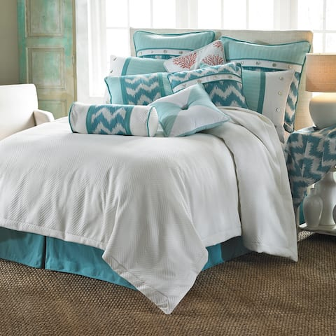 HiEnd Accents Catalina White Duvet Cover (Shams Not Included)