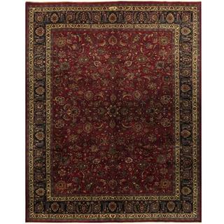 Herat Oriental Persian Hand-knotted Mashad Wool Rug (9'8 x 12'5)