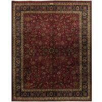 Handmade Herat Oriental Persian Mashad Wool Rug - 9'8 x 12'5 (Iran)