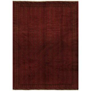 Herat Oriental Persian Hand-knotted Turkoman Wool Rug (9'6 x 12'4)