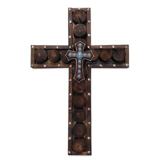 HiEnd Accents Studded Wood Cross W/Sm Cross Overlay (Ea)