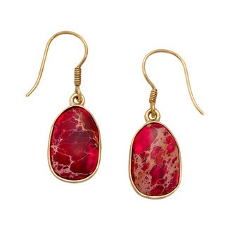 Handmade Pink Jasper Drop Earrings (Mexico)