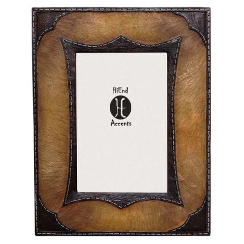 HiEnd Accents Resin Tan Cowhide Frame (Ea)