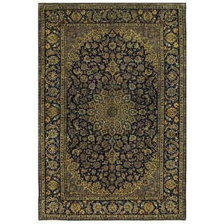 Herat Oriental Persian Hand-knotted Isfahan Wool Rug (9'7 x 14'4)