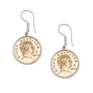 Handmade Sterling Silver Mexican Coin Earrings (Mexico)