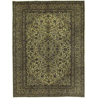 Herat Oriental Persian Hand-knotted Kashan Wool Rug (9'7 x 12'11)