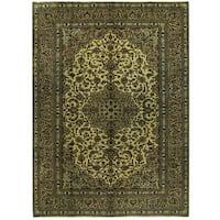 Handmade Herat Oriental Persian Kashan Wool Rug (Iran) - 8'2 x 11'4