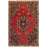 ecarpetgallery Hamadan Red Wool Rug (4'0 x 6'1)