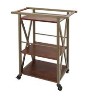 Orwell 3 Tier Square Bar Cart by Silverwood