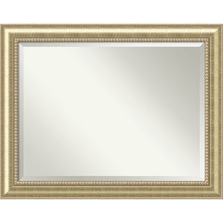 Wall Mirror Oversize Large, Astoria Champagne 47 x 37-inch - Antique Black - oversize large - 47 x 37-inch