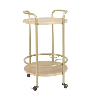 London Round 2 Tier Bar Cart by Silverwood