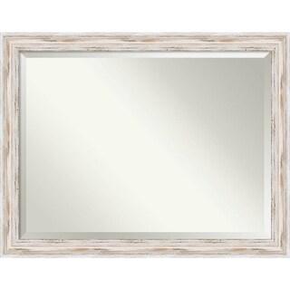 Maison Rouge Adair Oversized Large White Wash Bathroom Mirror, 45 x 35