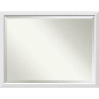 Wall Mirror Oversize Large, Blanco White 44 x 34-inch