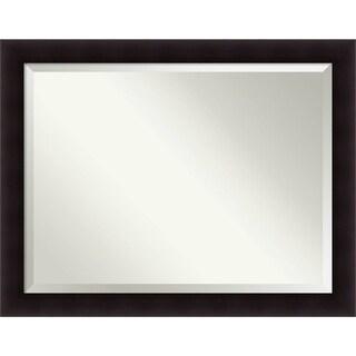 Wall Mirror Oversize Large, Portico Espresso 46 x 36-inch