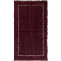 ecarpetgallery Herati Blue, Red Wool Rug (3'4 x 6'0)