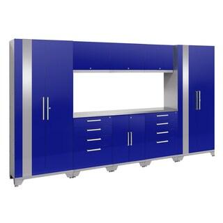 NewAge Products Performance 2.0 9-piece Garage Storage Set with Stainless Steel Worktop