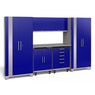 NewAge Products Performance Plus 2.0 7-piece Garage Storage Set with Stainless Steel Worktop