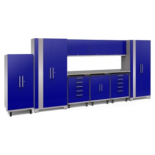 NewAge Products Performance Plus 2.0 10-piece Garage Cabinet Set with Stainless Steel Worktop