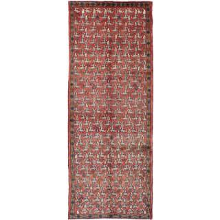 ecarpetgallery Mahal Brown Wool Rug (3'7 x 9'10)