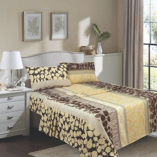 Livingston 300 Thread Count Printed Queen-size Sheet Set