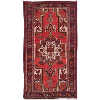 ecarpetgallery Hamadan Red Wool Rug (3'3 x 6'1)