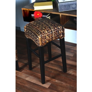 Handmade Boracay Brown Woven 24 inch Counter Stool (Philippines)
