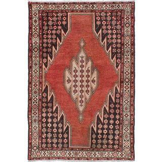 ecarpetgallery Persian Vintage Brown Wool Rug (4'2 x 6'5)