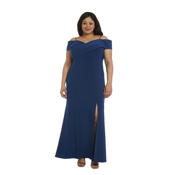 Nightway Plus Size Off The Shoulder Gown