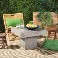 Safavieh Tallen Dark Grey Modern Concrete Indoor/ Outdoor Coffee Table