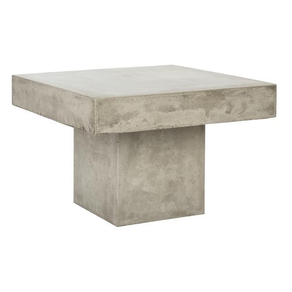 Safavieh Tallen Dark Grey Modern Concrete Indoor Outdoor Coffee Table