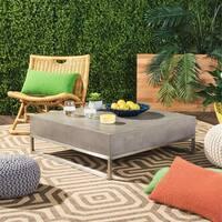 "Safavieh Eartha Dark Grey Modern Concrete Indoor/ Outdoor Coffee Table - 34.3"" x 34.3"" x 11.4"""