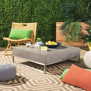 Safavieh Eartha Dark Grey Modern Concrete Indoor/ Outdoor Coffee Table