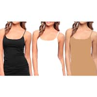 Seamless Long Camisole with Adjustable Straps (Pack of 3)