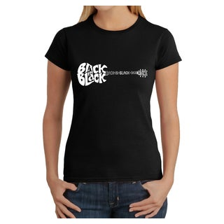 Los Angeles Pop Art Women's  Back in Black T-Shirt