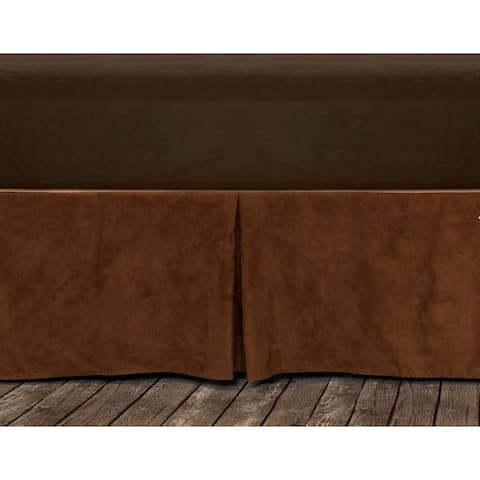 Hiend Accents Copper Microfiber Suede Bedskirt