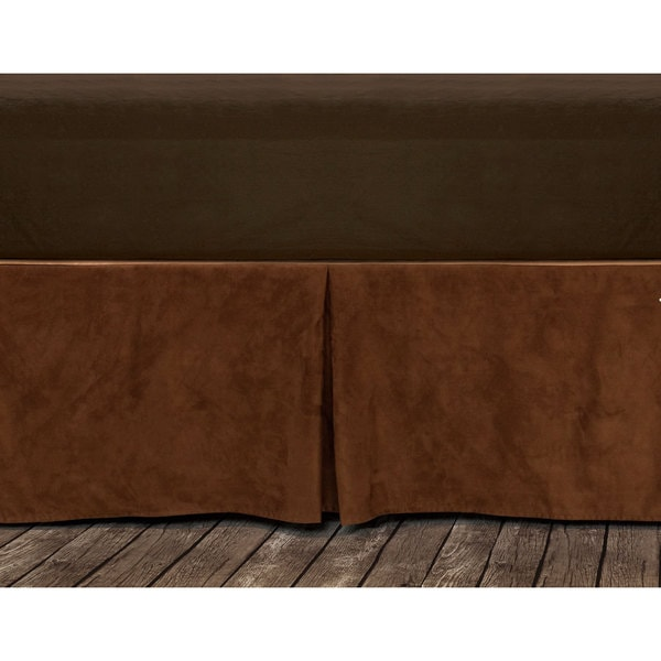 Hiend Accents Copper Microfiber Suede Bedskirt