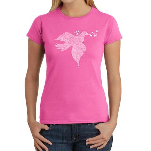 Los Angeles Pop Art Women's Dove T-Shirt